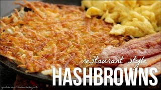 How to Make Hash Browns - Diner Style Restaurant Hashbrown Recipe