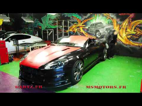 DARTZ & MS MOTORS Aston Martin DBS MANSORY Full RED SATINE WRAPPING