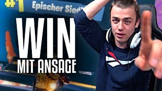 WIN mit ANSAGE in Fortnite | Papaplatte