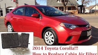 2014 Toyota Corolla Cabin Air Filter Replacement. Corolla E170 Cabin Air Filter