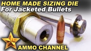 A makeshift jacketed bullet resizing die - 7.62x54 to 308 diameter