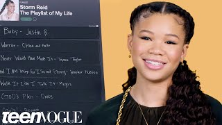 Storm Reid Creates The Playlist of Her Life | Teen Vogue