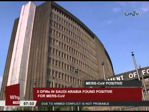 3 OFWs in Saudi Arabia found positive for MERS-CoV