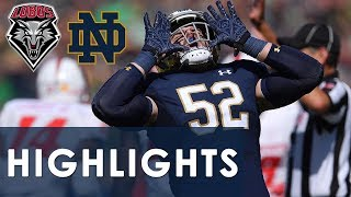 New Mexico vs. Notre Dame | EXTENDED HIGHLIGHTS | 9/14/19 | NBC Sports