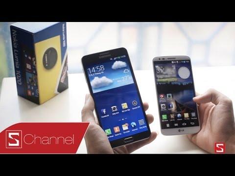 Schannel - Galaxy Note 3 vs LG G2: Đối đầu màn hình, camera, thiết kế - CellphoneS