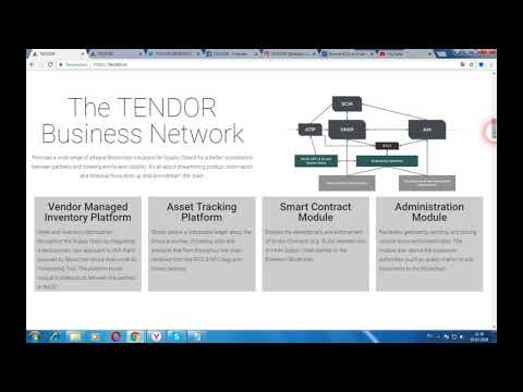 TENDOR - платформа для отслеживания информации о продукте на блокчейн