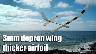3mm depron wing with thicker airfoil