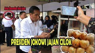 Presiden Jokowi Jajan Cilok ditemani Anies Baswedan