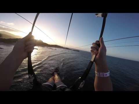 World's longest zip line over water (Labadee Haiti)