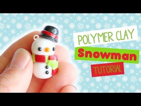 Kawaii Christmas Snowman│Polymer Clay Tutorial