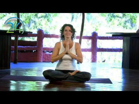 Morning heart expanding intermediate Hatha Yoga class - 49 minutes