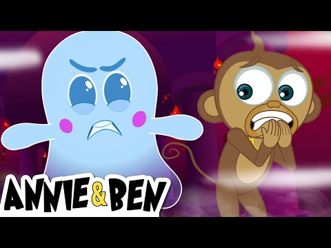 The Ghost Host | Scary Halloween Cartoons for Kids by The Adventures of Annie and Ben!