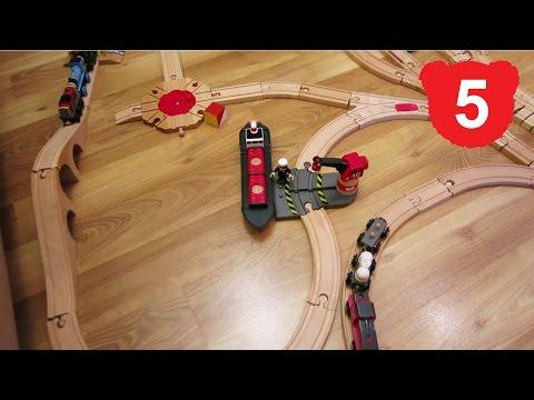 Деревянную железную дорогу своими руками