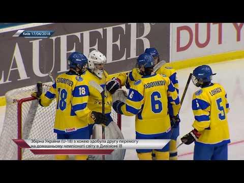 Хоккей. Сборная Украины U-18 обыграла Венгрию (4:3) на ЮЧМ в Дивизионе IB в Киеве