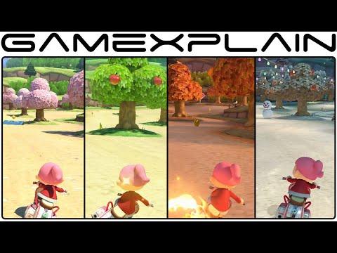 All 4 Seasons in Animal Crossing Track - Mario Kart 8 (Full Race - 60fps)