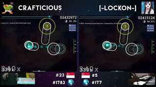 Crafticious VS [-Lockon-] : Feint - Outbreak [ft. MYLK]