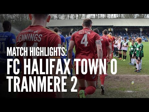 Match Highlights | FC Halifax 0 - 2 Tranmere Rovers
