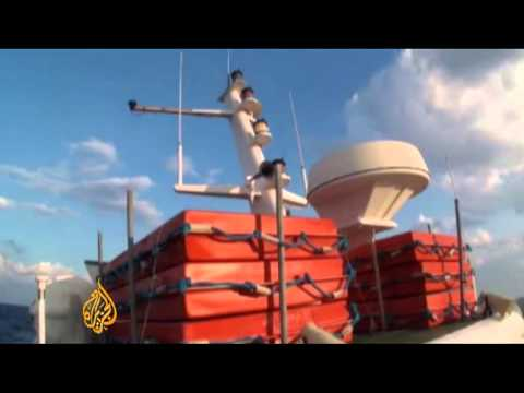 Footage from aid boat en route for Gaza