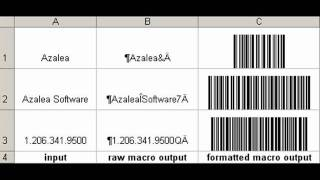 Barcodes in Excel