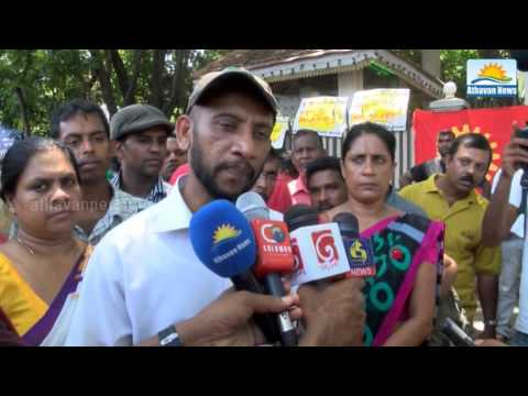 All Ceylon Health workers association conducts a protest, today