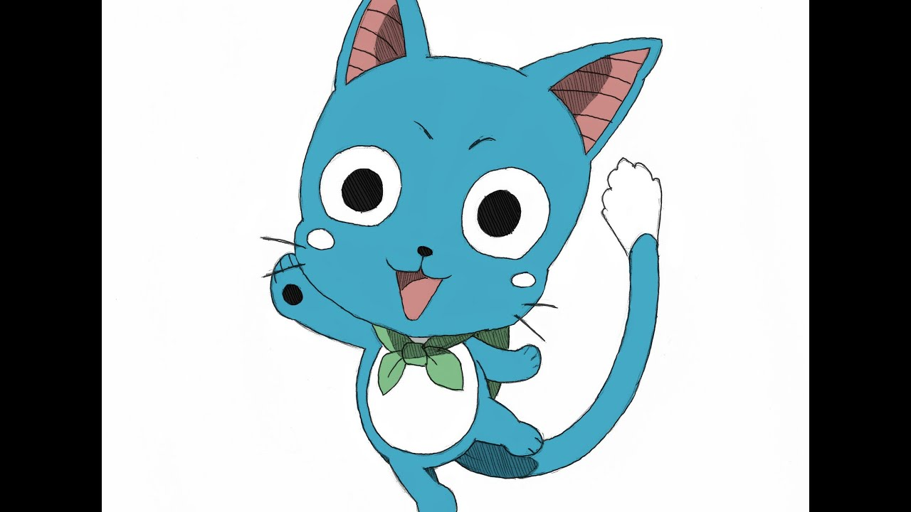 Happy Fairy Tail Cute Drawing  Happy Fairy Tail Cute