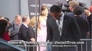 Total Recall - Beautiful Jessica Biel at Total Recall Hollywood Movie Premiere with Collin Ferrell