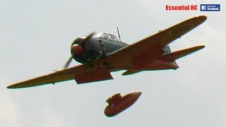 GIANT 1:5 scale RC JAPANESE Mitsubishi A6M ZERO with FUEL TANK DROP !