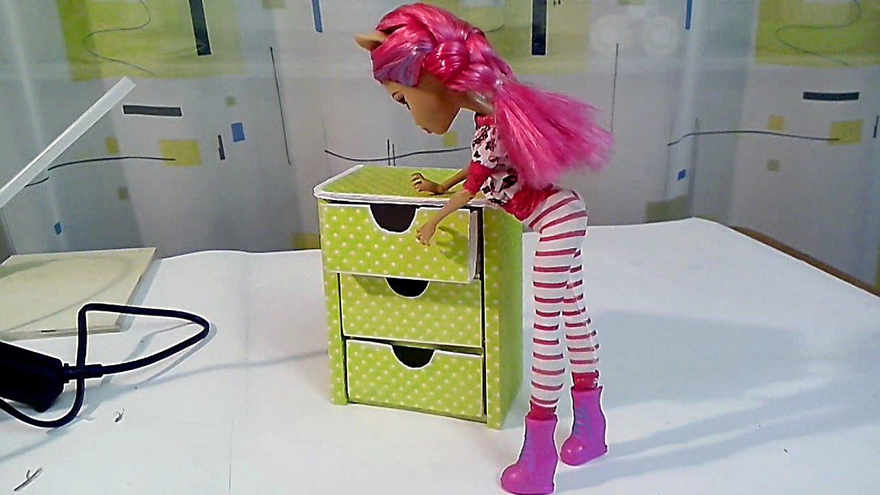 Мастер класс мебель для кукол своими руками видео