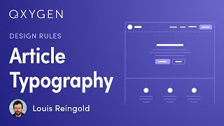 Design Rules: Typography Tips For Readable Long-Form Content