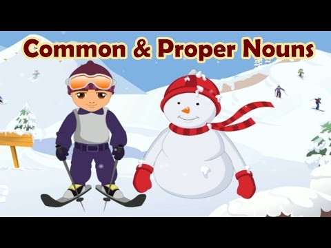 Parts of Speech: Common & Proper Nouns, Learning English Grammar For Children
