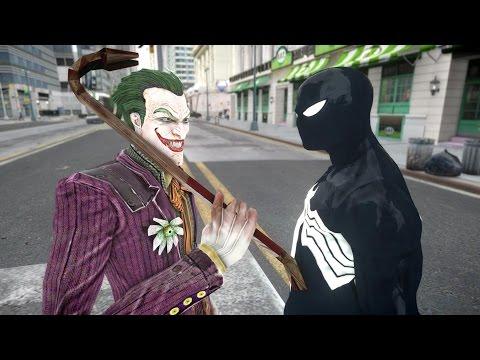 Joker vs Black Spiderman - EPIC BATTLE