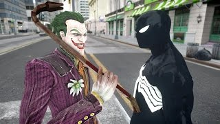 Joker vs Black Spiderman - EPIC BATTLE