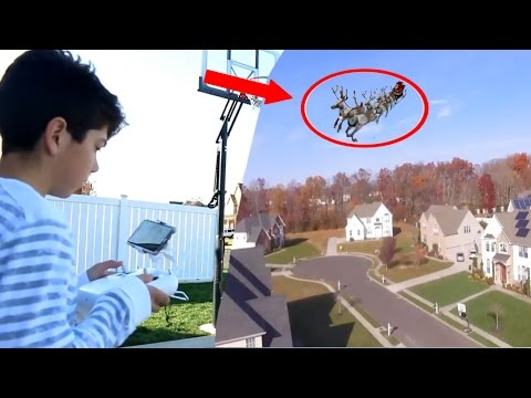 I CAUGHT SANTA CLAUS ON TAPE ON MY DRONE! HUNTING FOR SANTA! *I FOUND HIM*
