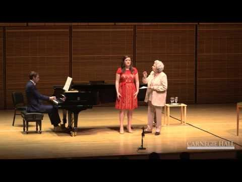 Carnegie Hall Vocal Master Class: Mahler's