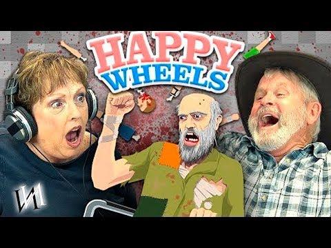 Реакция стариков на игру HAPPY WHEELS /  Иностранцы пенсионеры на ВЕСЁЛЫХ КОЛЁСИКАХ [ИндивИдуалист]