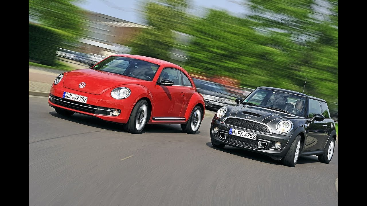 vw beetle  mini cooper ernsthafte konkurrenz youtube