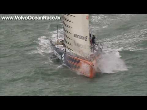 Singapore In Port race 2 highlights (10/01/09) - VOLVO OCEAN RACE 2008/9