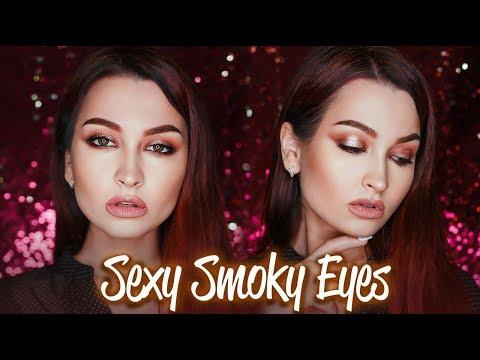 Макияж  Smokey Eyes Урок - ПОШАГОВО • Cмоки в теплых тонах с пигментом •