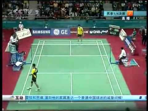 2006 Doha Asian Games Badminton MS QF - Taufik Hidayat[IND] Vs Bao Cunlai[CHN]