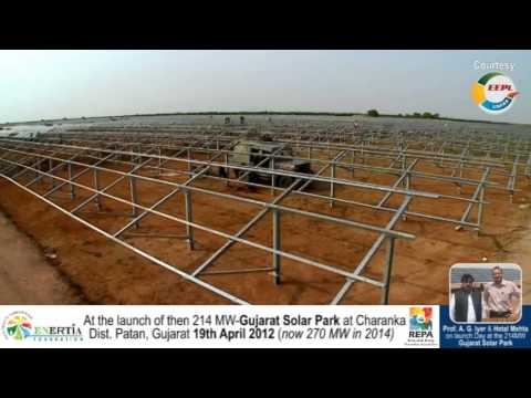 270MW Gujarat Solar Park at Charanka, Patan - Asia'a Largest Solar Park - India's Pride