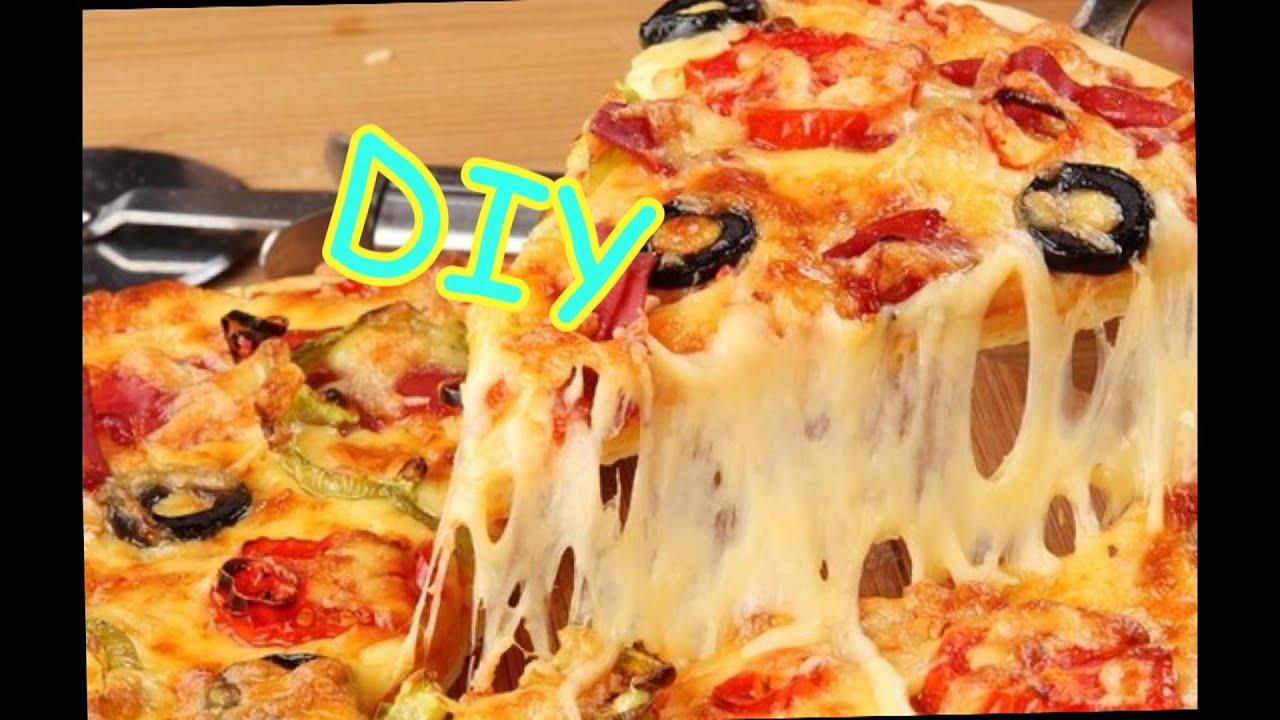 Рецепт пиццы в домашних условиях в микроволновке с колбасой и сыром