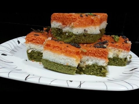 Tiranga Sandwich Dhokla video