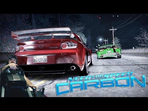 Баттл против KENJI в каньоне и Mazda RX-7 в Need for Speed: Carbon на руле Fanatec Clubsport