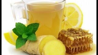 Рецепт  -  напиток   от простуды. Имбирный чай с лимоном