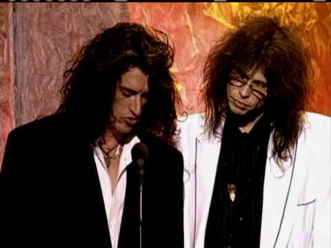 Aerosmith inducts Led Zeppelin 1995