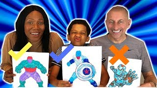 3 Marker Challenge With Chris ~ Family fun Videos for Kids.