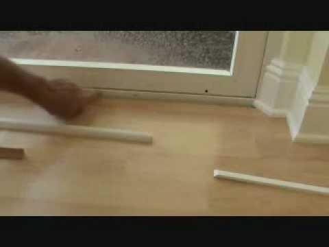 Installing A Threshold Trim Piece To Hardwood Floor