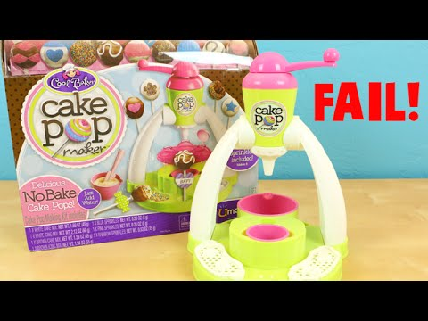 Cake Pop Maker Cool Baker - DIY Make Your Own Cake Pops! - FAIL!