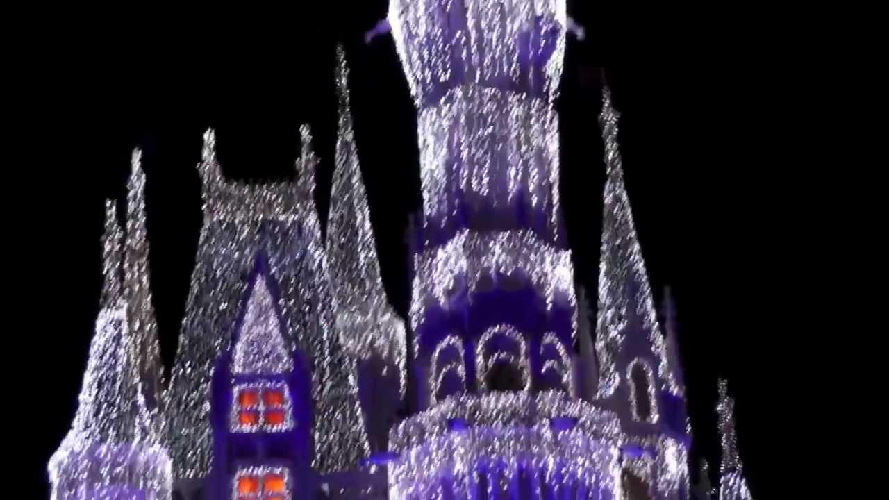 2012 Cinderella Castle Christmas Lighting At Magic Kingdom