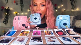 ASMR EDIBLE INSTAX POLAROID CAMERA (FAKE) FUJIFILM PICTURES MUKBANG 먹방 멜론 EATING SHOW